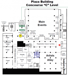 2019 Plaza Concourse C Level Map