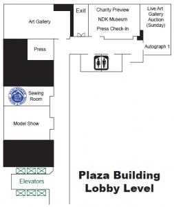 2019 Plaza Lobby Level Map